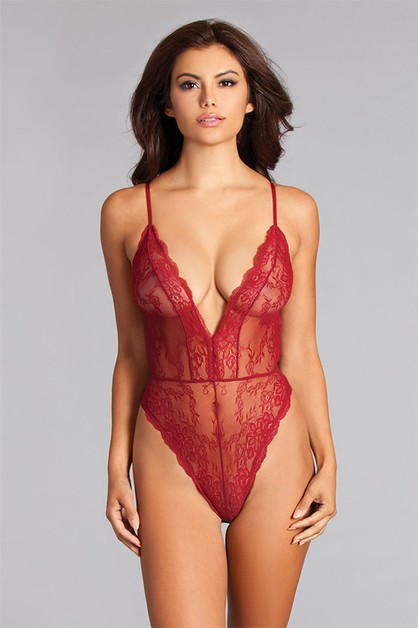 Lace and Sheer Teddy - orangeshine.com