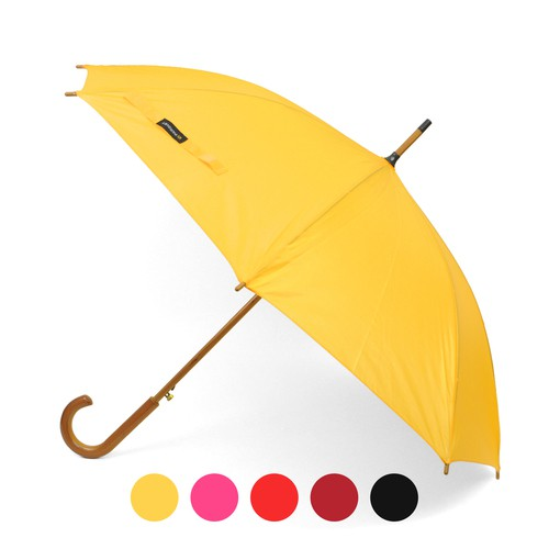 12pc Wooden Auto-Open Umbrella - orangeshine.com