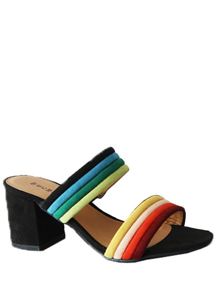 MULTI OPEN TOE SHORT HEEL SLIP ON SU - orangeshine.com