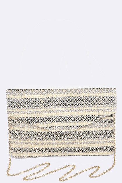 Chevron Stripes Envelope Clutch - orangeshine.com