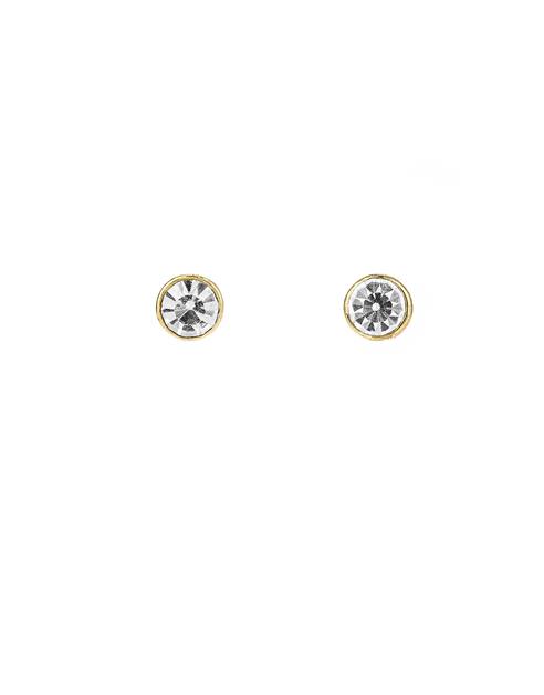 Rhinestone Stud Earrings - orangeshine.com