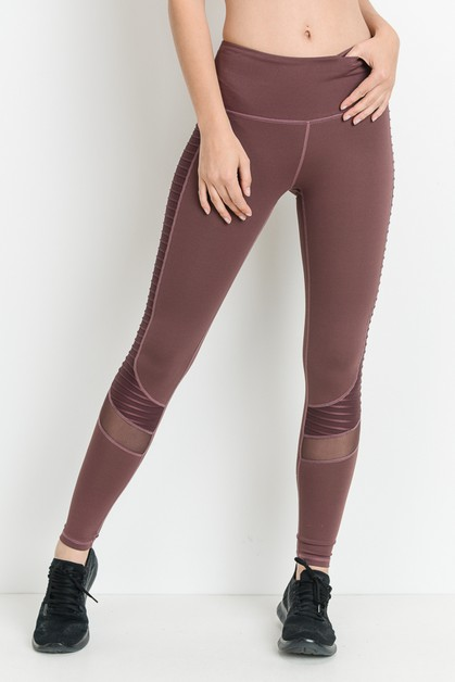 KNIT MESH LEGGINGS - orangeshine.com