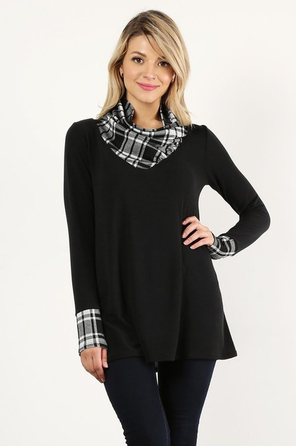 Knit tunic top in an oversized fit  - orangeshine.com