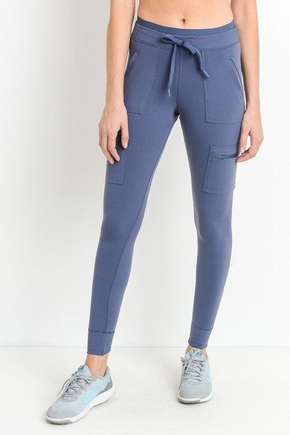 Skinny cargo leggings with elastic - orangeshine.com