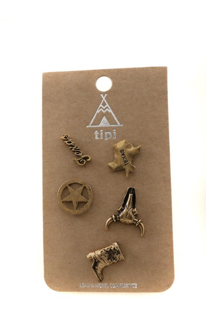 Antiqued metal pin set - orangeshine.com