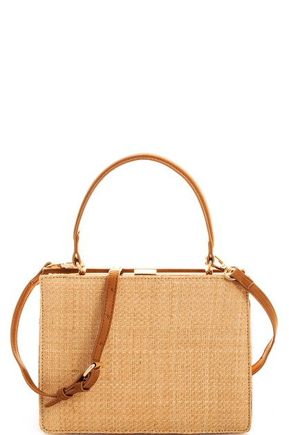 Street Level Straw Woven Chic Crossb - orangeshine.com
