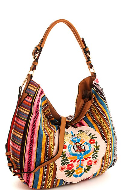 Chic Embroidered Hobo Bag  - orangeshine.com
