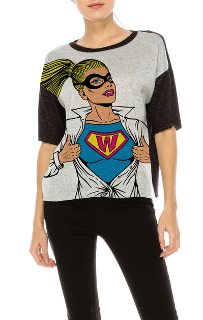 HG COLOR BLOCK TOP W SUPER GIRL - orangeshine.com