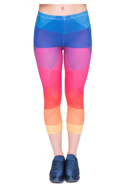 Sublimated Capri Leggings - orangeshine.com
