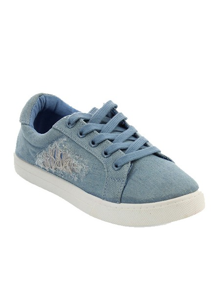 CASUAL DENIM SNEAKER WITH LACE - orangeshine.com
