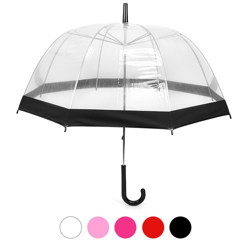 6pc See-Thru-Bubble Clear Umbrella - orangeshine.com