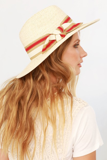 Multi Colored Ribbon Panama Hat - orangeshine.com