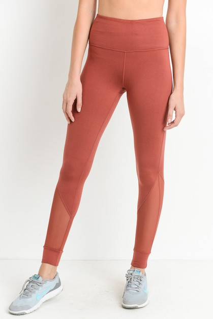 MESH DETAIL FULL LEGGINGS - orangeshine.com