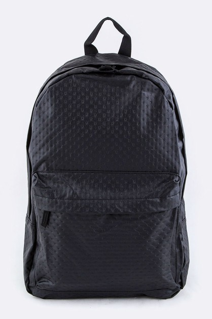 Embossed PU Backpack - orangeshine.com