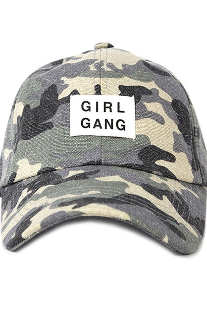 Camo Girl Gang Baseball Cap  - orangeshine.com