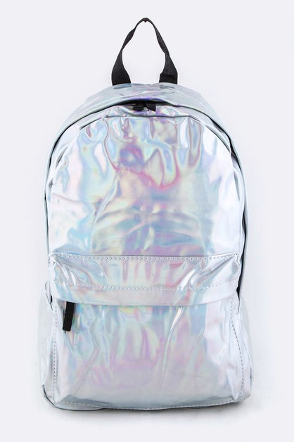 Holographic Color Backpack - orangeshine.com