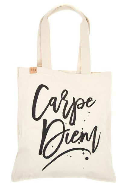 CARPE DIEM ECO TOTE BAG  - orangeshine.com