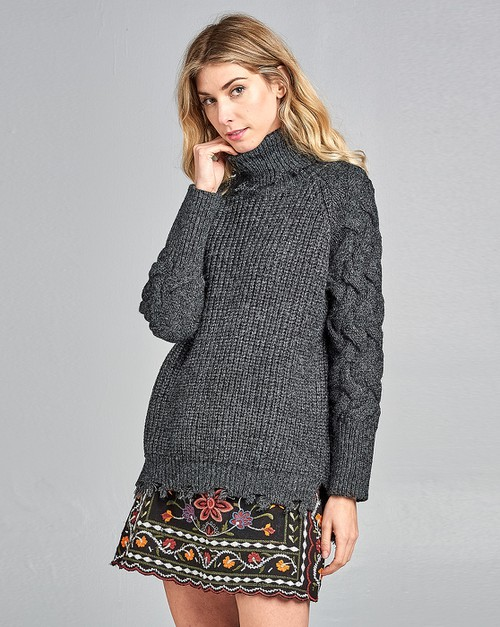 Destroy Turtle Neck Sweater - orangeshine.com