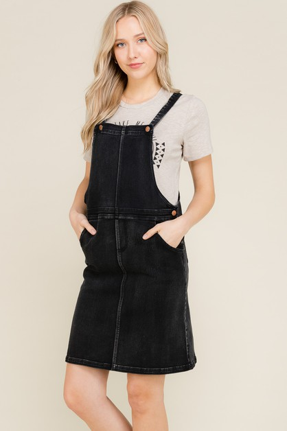 OVERALL STYLE DENIM DRESS - orangeshine.com