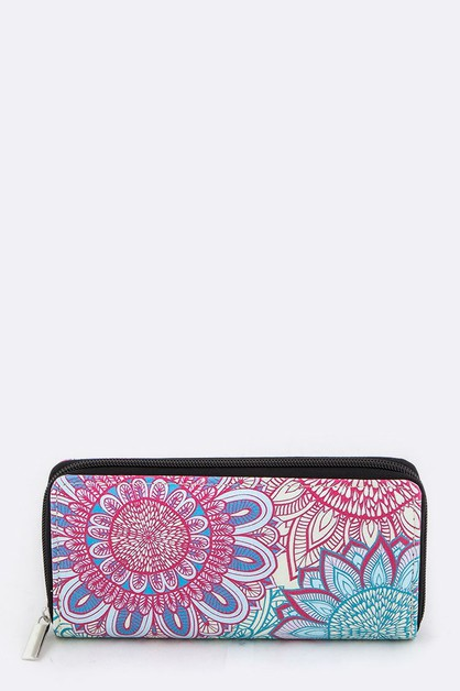 Flower Art Print Wallet - orangeshine.com