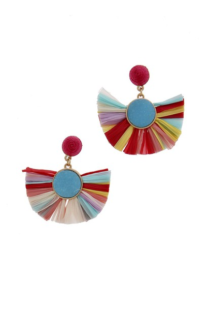 RAFFIA FASHION EARRING - orangeshine.com