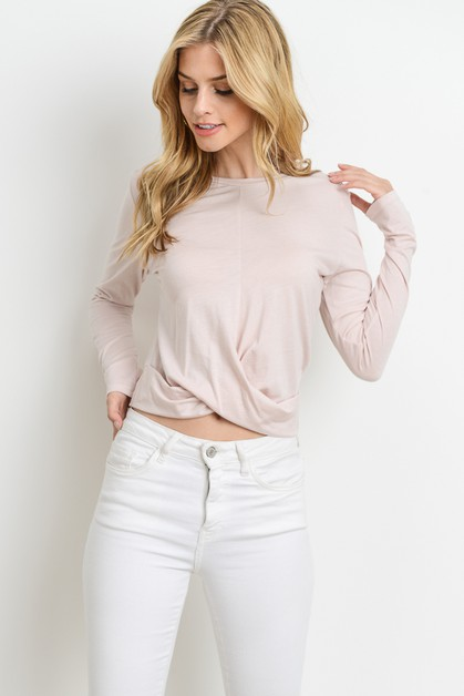 Cropped Twist Top - orangeshine.com