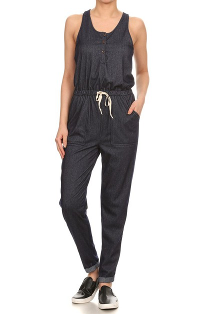 Stretchy Denim Rompers Jumpsuits - orangeshine.com
