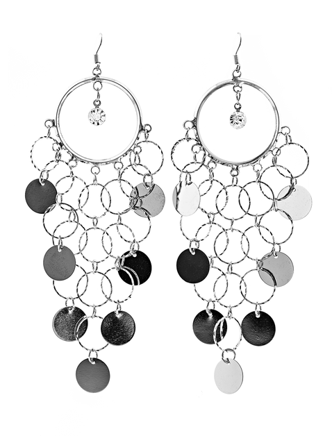 Disk Chandelier Earrings - orangeshine.com