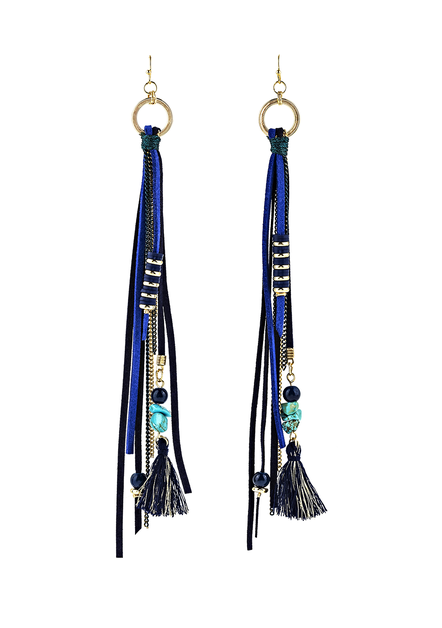 Tassel and beaded Earrings - orangeshine.com