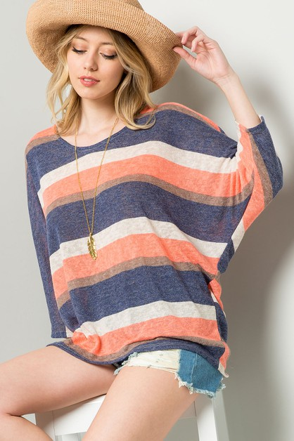 STRIPE DOLMAN TOP - orangeshine.com