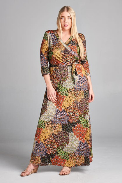 NEW SURPLICE MAXI DRESS - orangeshine.com