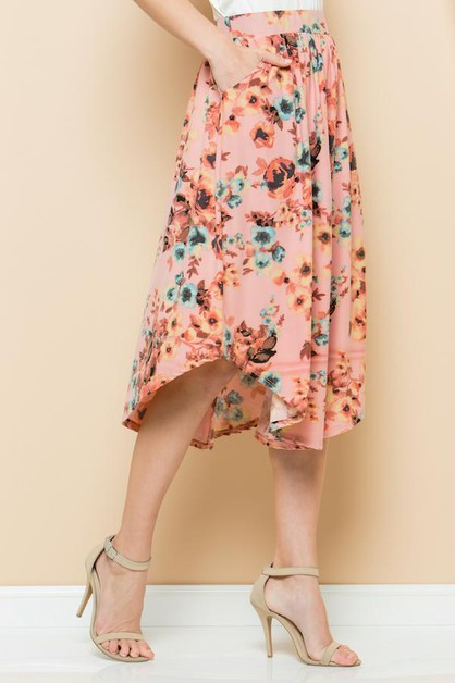 Floral Swing Skirt  - orangeshine.com