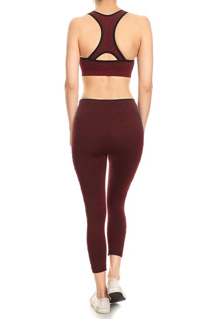 Seamless activewear set  - orangeshine.com