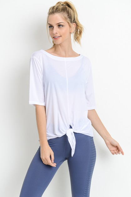 TIE FRONT CASUAL TOP - orangeshine.com