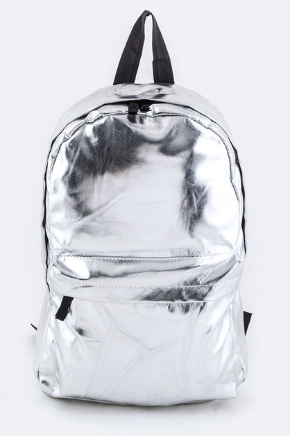 Silver Nylon Backpack - orangeshine.com