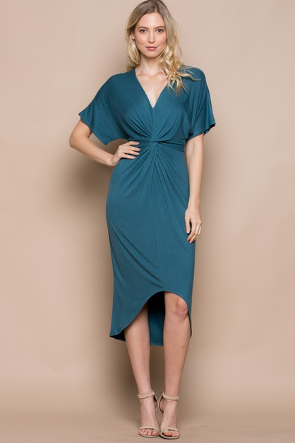 High-Low Wrap Dress  - orangeshine.com
