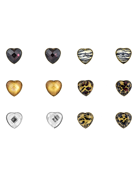 Heart Design Crystal Stud Earrings - orangeshine.com