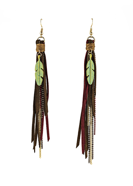 Tassel and Chain Earrings - orangeshine.com