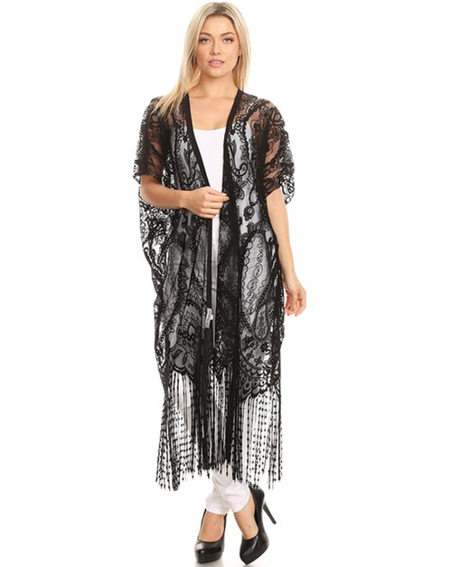 lace long cardigan - orangeshine.com