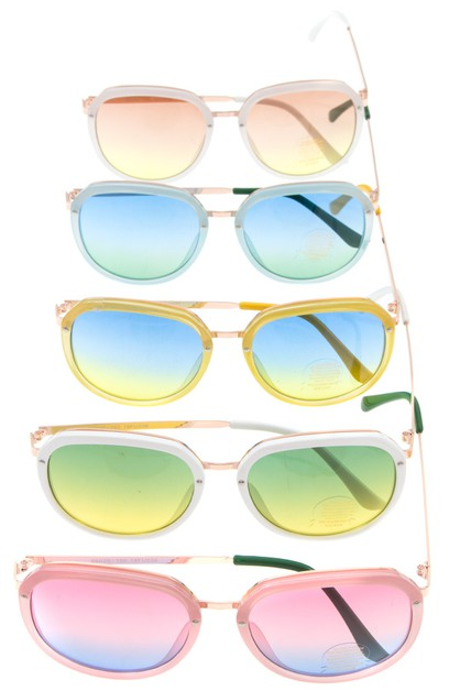 OMBRE LENS EDGED FRAMED SUNGLASSES P - orangeshine.com