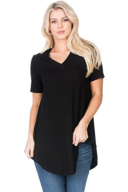 Relaxed V-Neck Top - orangeshine.com