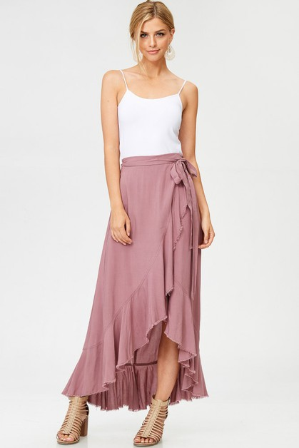 RUFFLED WRAP SKIRT - orangeshine.com