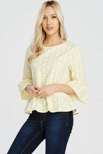 A ruffled Cotton Blouse - orangeshine.com