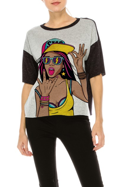 HG COLOR BLOCK TOP W HIP HOP GIRL - orangeshine.com