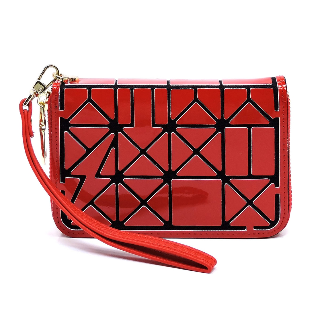 Geometric Patchwork Wallet - orangeshine.com
