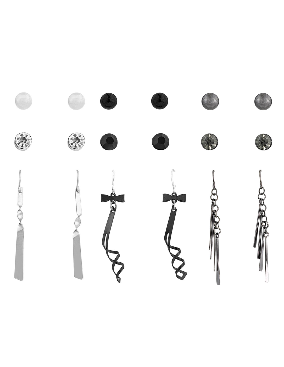 Studs and Drop Earring Set of 9 - orangeshine.com