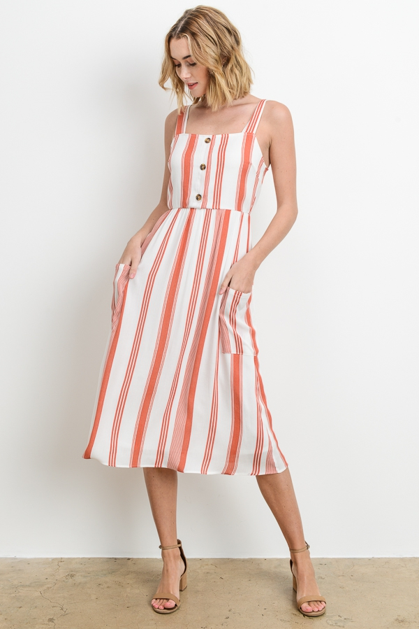 835a85447174 Striped Midi Dress - orangeshine.com. LELIS ...