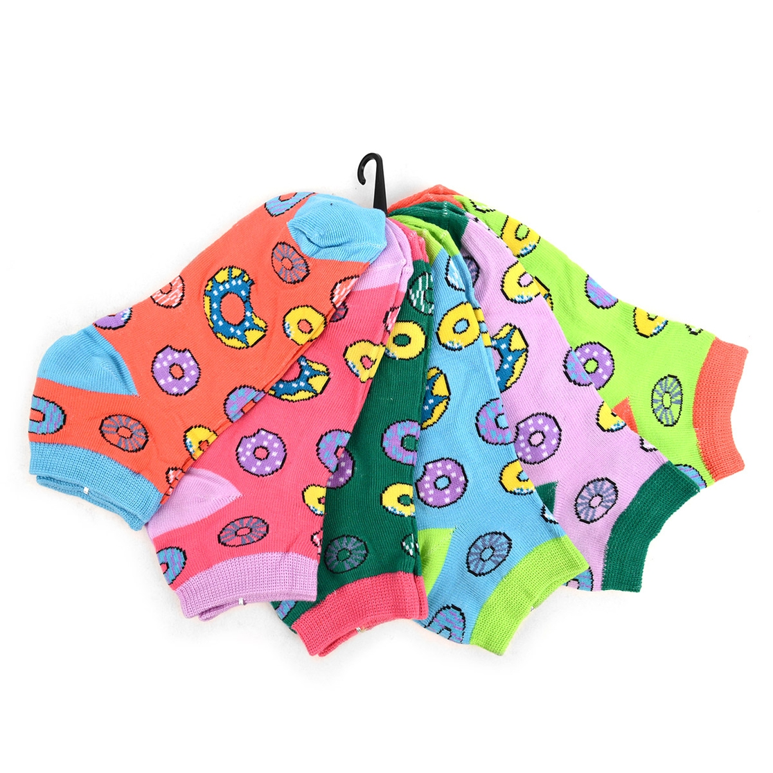 6 Pairs Women Donuts Socks - orangeshine.com