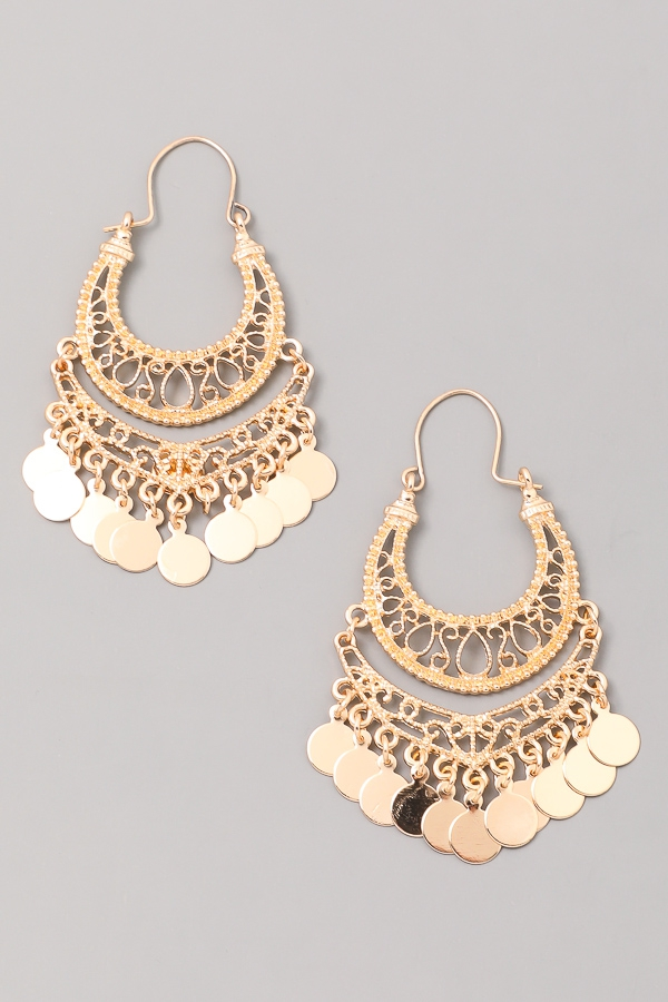Fleur Dusk Chandelier Earrings - orangeshine.com