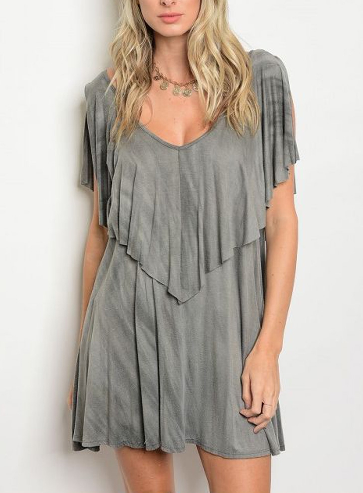 Tie Dye Grey Dress - orangeshine.com